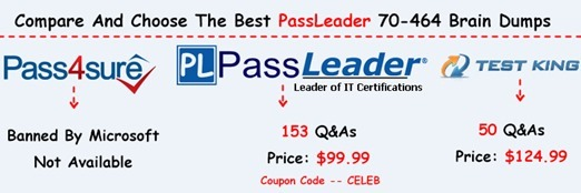 PassLeader 70-464 Brain Dumps[26]