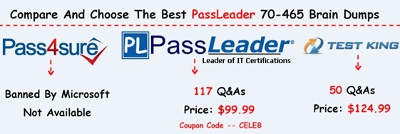 PassLeader 70-465 Brain Dumps[25]