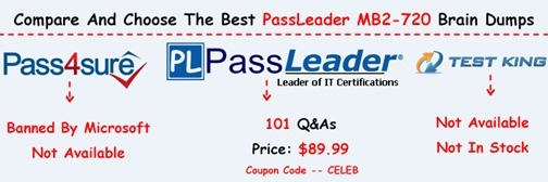 PassLeader MB2-720 Exam Questions[8]